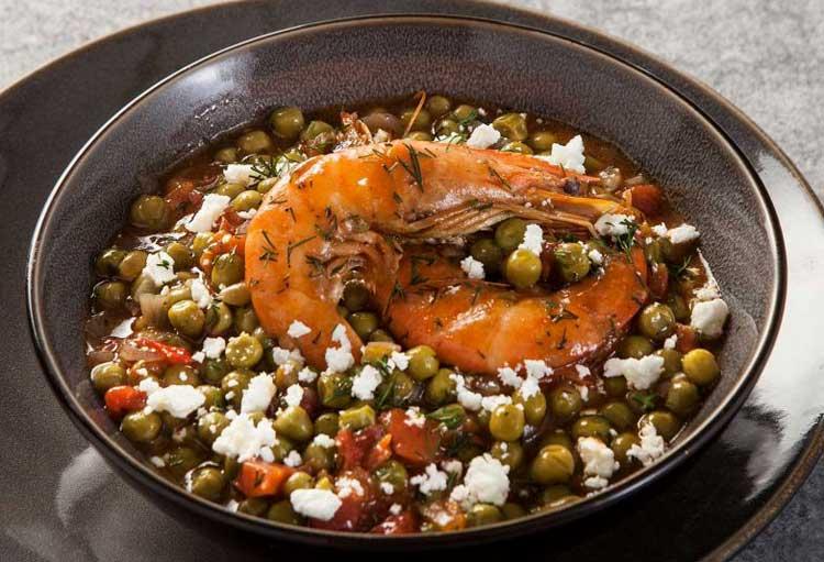 Αρακάς με γαρίδες